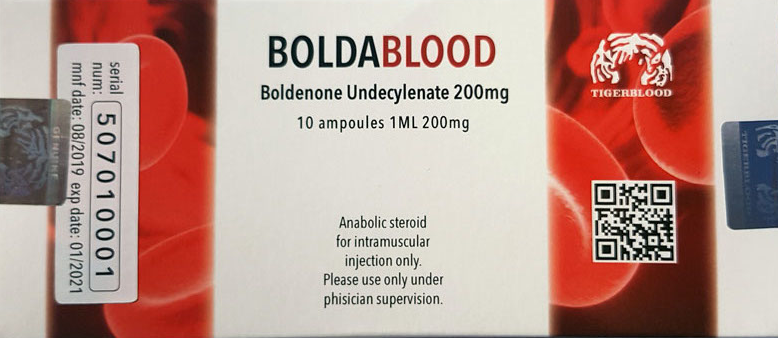 Boldablood boldenone 200mg/cc   10 ampoules each 1ml
