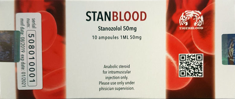 Stanblood (winstrol)   50mg/cc   10 ampoules each 1ml