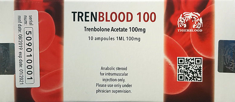 Trenblood Trenbolone acetate 100mg/cc 10 ampoules each 1ml